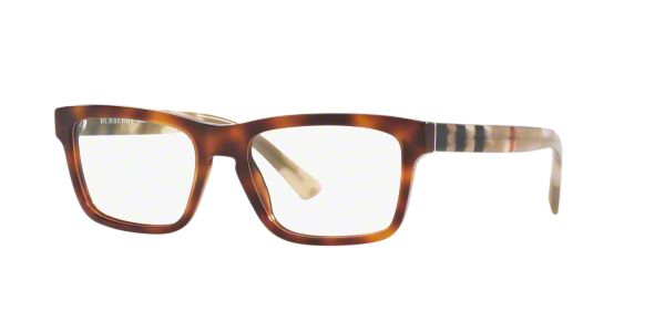 BE2226: Shop Burberry Tortoise Square Eyeglasses at ...