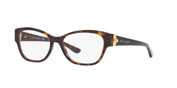 RL6151: Shop Ralph Lauren Tortoise Square Eyeglasses at ...