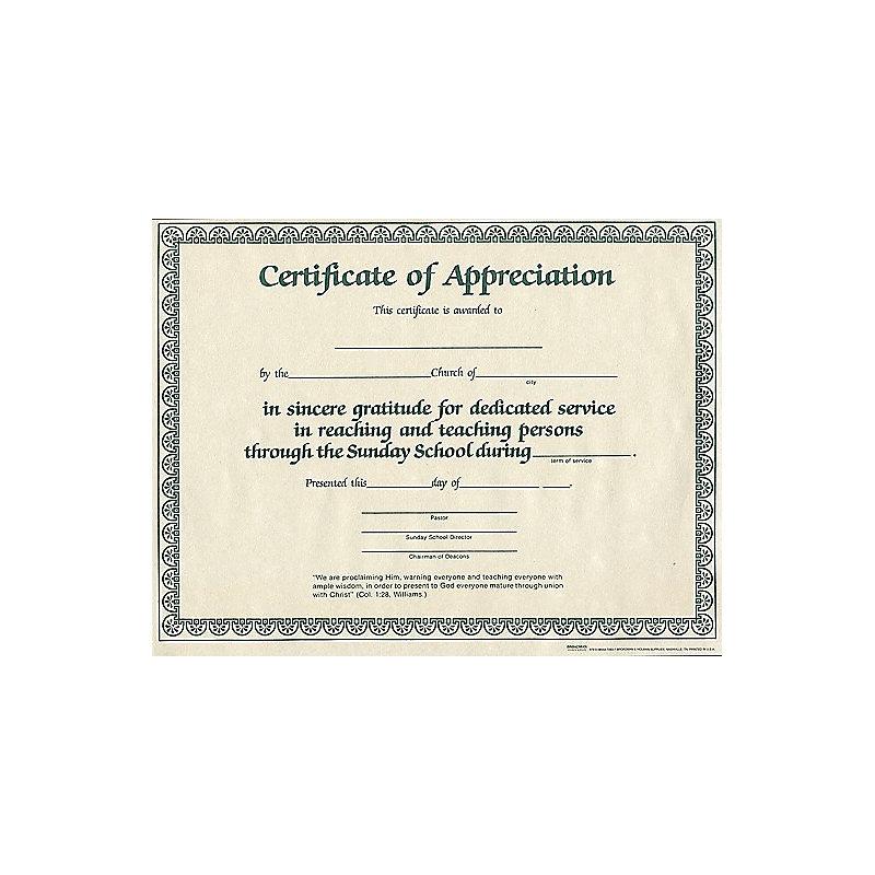 Church certificate of appreciation northurthwall church certificate of appreciation yelopaper Choice Image