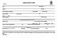 Enrollment Card/Permanent Record of Progress (Form 10)