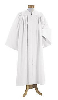 Minister's Baptismal Gown Black Large-Long