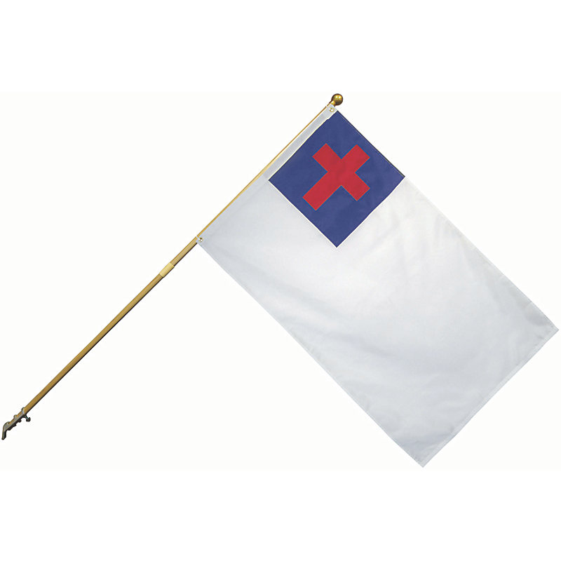 Christian Flag Set 2.5' X 4'