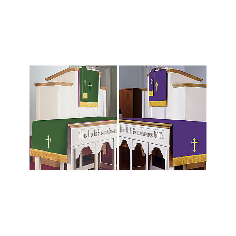 Pulpit Bookmarker Purple and Green