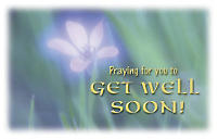 Postcard- Get Well Floral