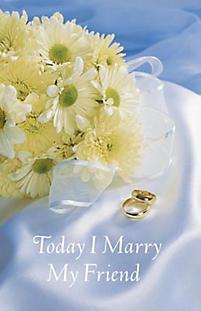 Wedding Bulletin: Today I Marry My Friend