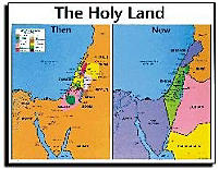 Map: The Holy Land - Then and Now