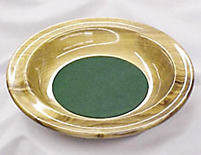 Offering Plate: Myrtlewood - Smooth Rim with Green Pad