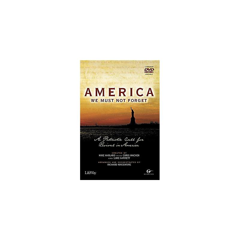 America, We Must Not Forget – Accompaniment CD (Split-Track)