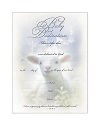 Certificate Baby Dedication