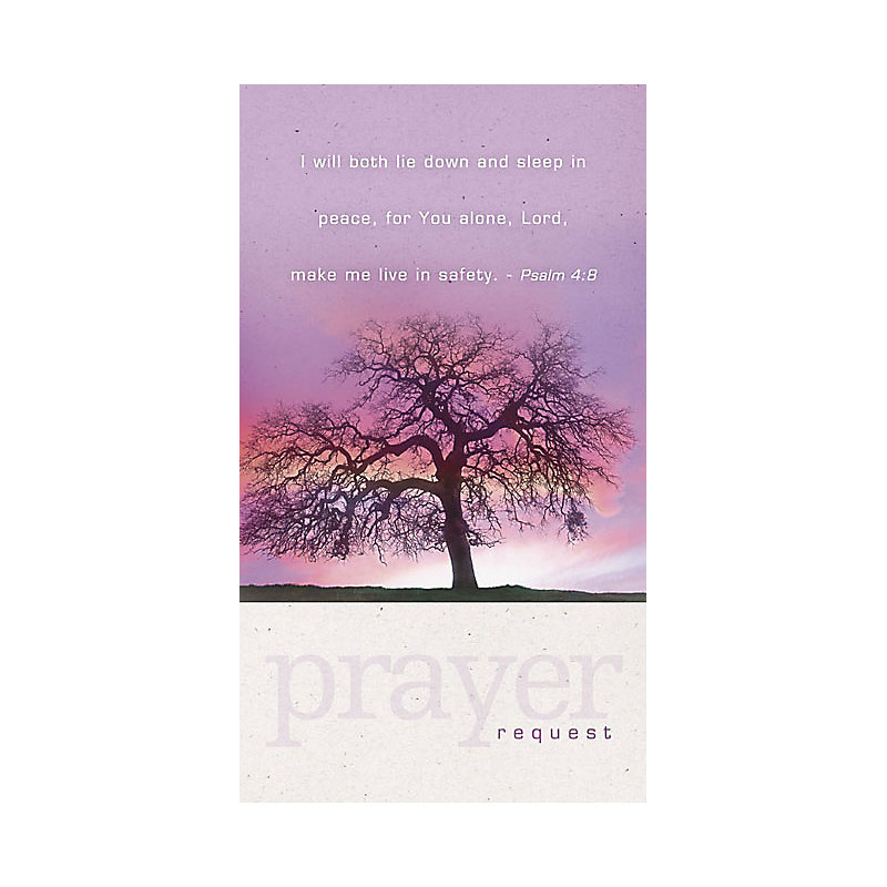 Sunset Prayer Request - Pew Card