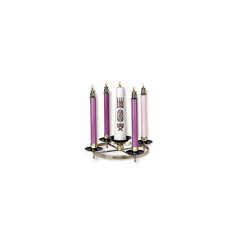 Advent Wreath with Integral Christ Candle Holder