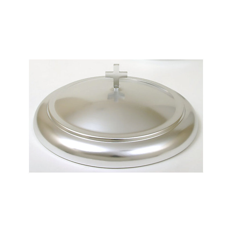 Communion Bread Plate Cover: Polished Aluminum