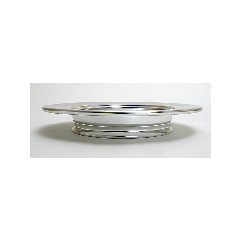 Communion Bread Plate: Polished Aluminum (Stacking)
