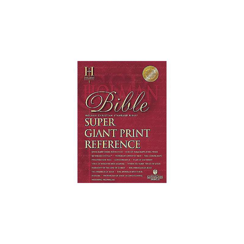 HCSB Super Giant Print Reference Bible: Black with Index