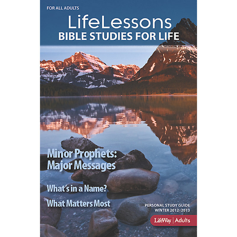 Bible Studies for Life: LifeLessons Personal Study Guide - Winter 2013