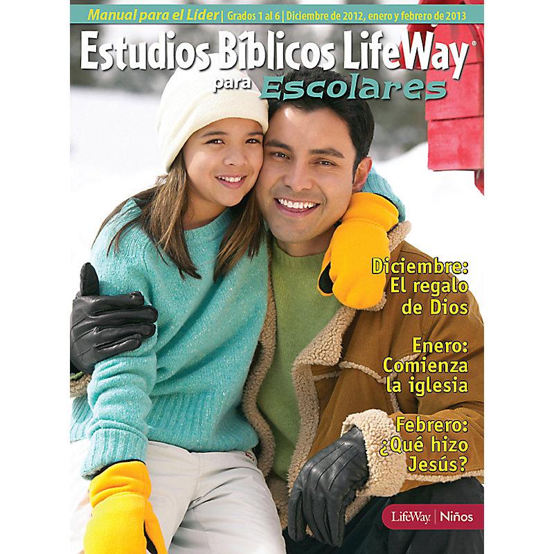 Estudios B�blicos para Escolares del 1 al 6 Grados: Manual para el L�der - Invierno 2013