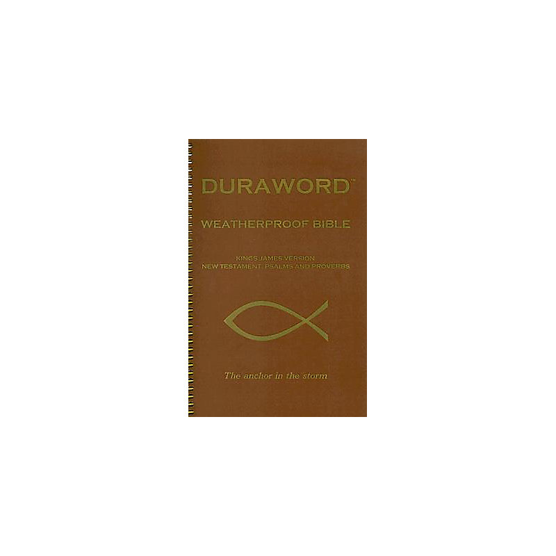 Duraword Weatherproof New Testament-KJV-With Psalms and Proverbs                                                                                       (Brown)