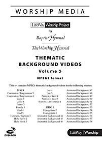 LifeWay WorshipMedia - MPEG1 Thematic Background Videos DVD-ROM, Volume 5