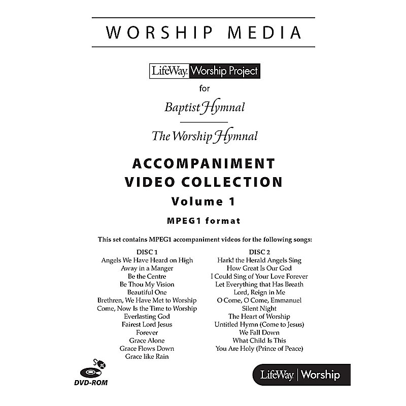 LifeWay WorshipMedia - MPEG1 Accompaniment Video Collection DVD-ROM, Volume 1