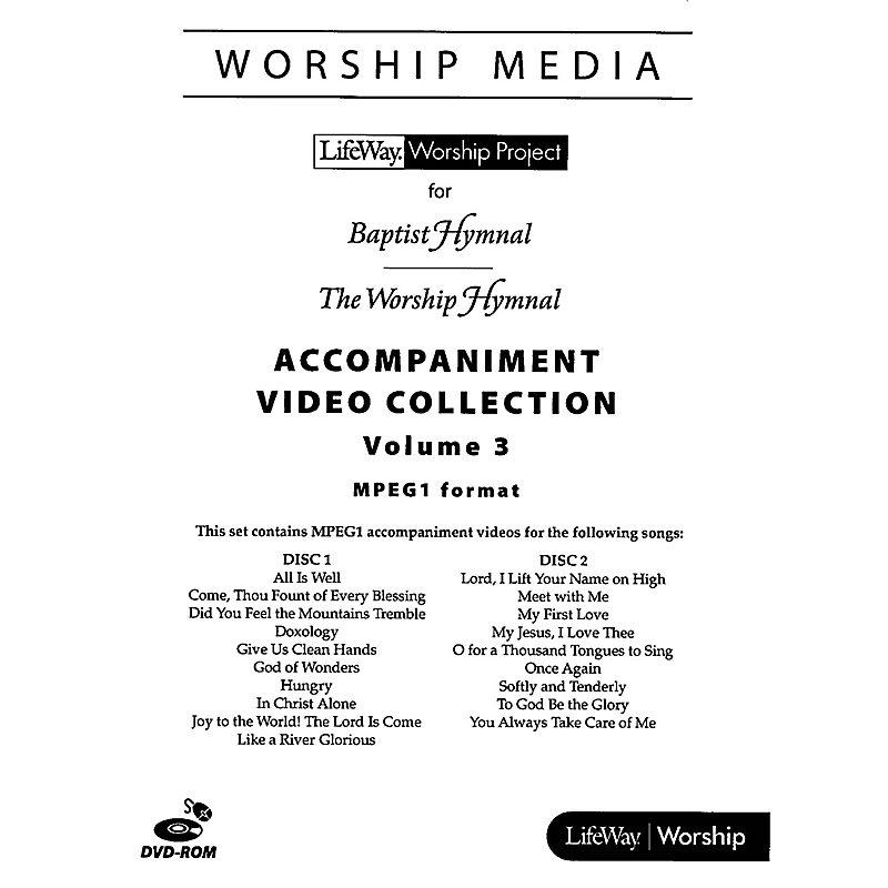 LifeWay WorshipMedia - MPEG1 Accompaniment Video Collection DVD-ROM, Volume 3