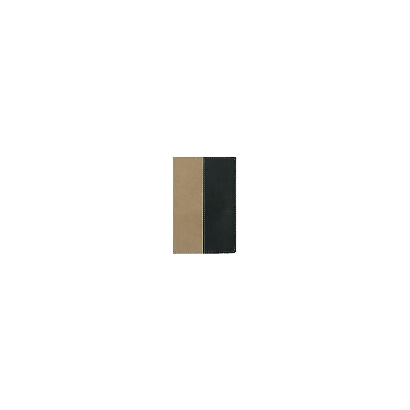 NIV Compact Thinline Bible - Tan/Black