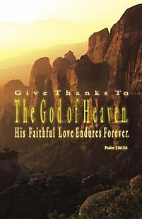 Bulletins: Give Thanks to The God of Heaven - Psalm 136:26
