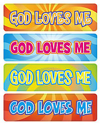Levels of Biblical Learning: Stickers - God Loves Me