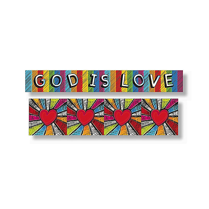 Levels of Biblical Learning: Quick Scene™ Bulletin Board Borders - God Is Love
