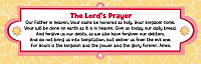 Levels of Biblical Learning: Bookmarks - Lord's Prayer