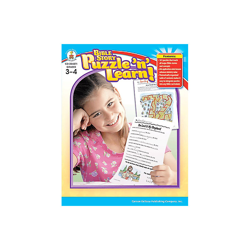 Bible Story Puzzle 'n' Learn - Grades 3-4