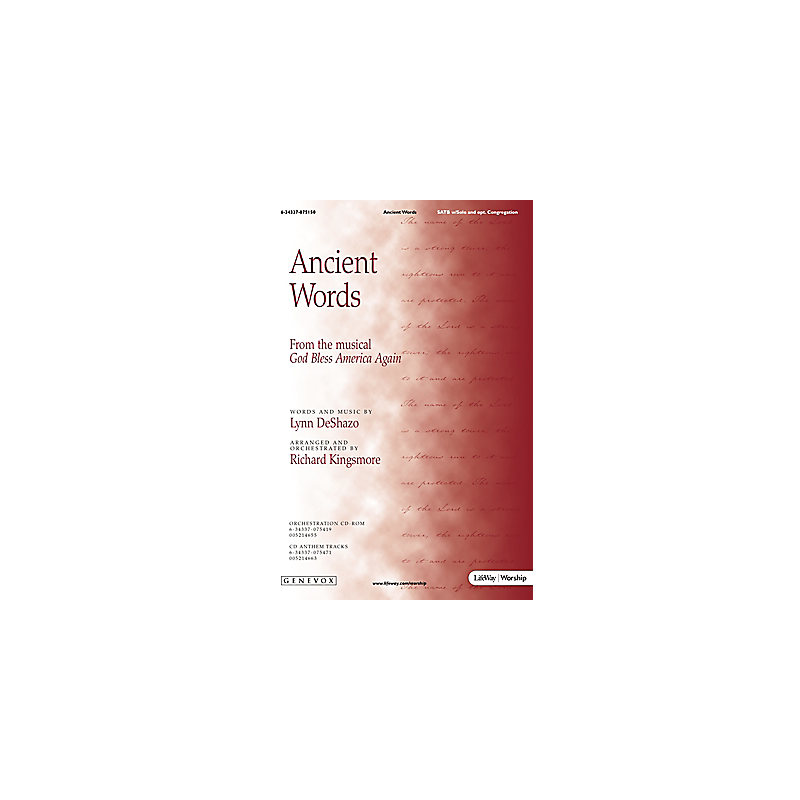 Ancient Words - Orchestration CD-ROM (PDF)