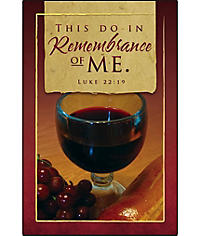 Communion Bulletins: This Do In Remembrance of Me