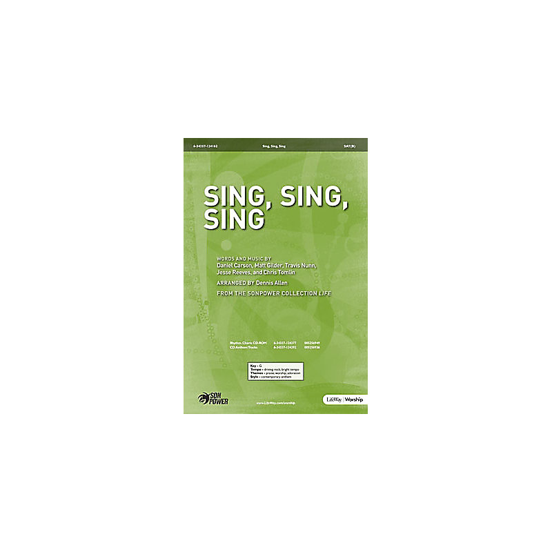 Sing, Sing, Sing - Rhythm Chart CD-ROM (PDF)