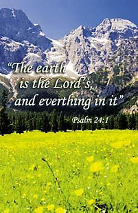 Bulletins: The Earth is the Lord's - Psalm 24:1
