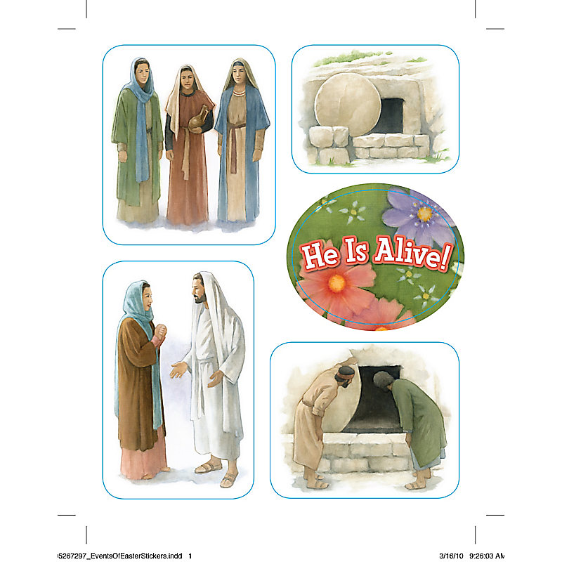Levels of Biblical Learning: Stickers - Events of Easter