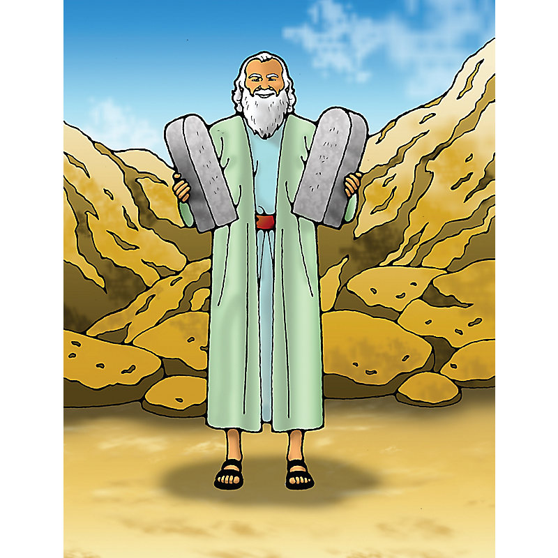 Puzzle: Moses and the 10 Commandments