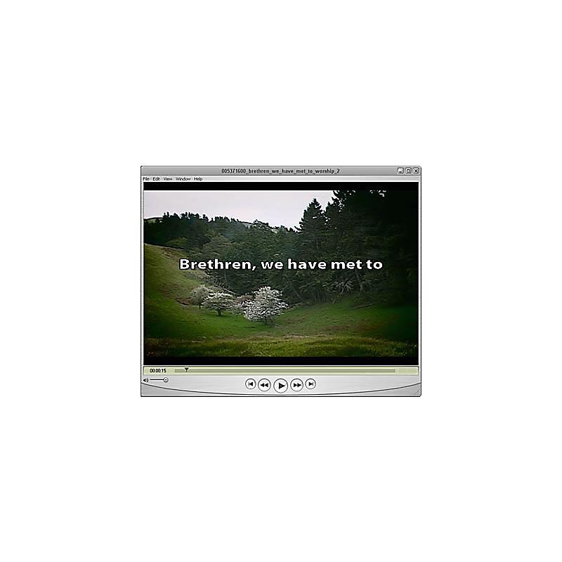 Worship Media: Brethren, We Have Met to Worship 02 - Accompaniment Video for Presentation Software