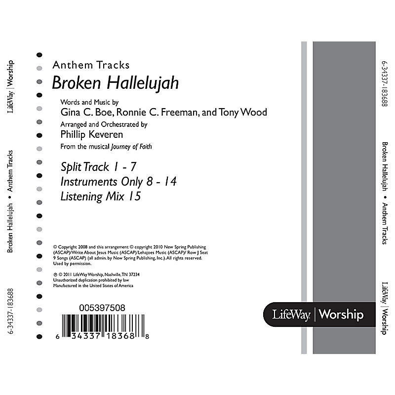 Broken Hallelujah - DVD Anthem Tracks