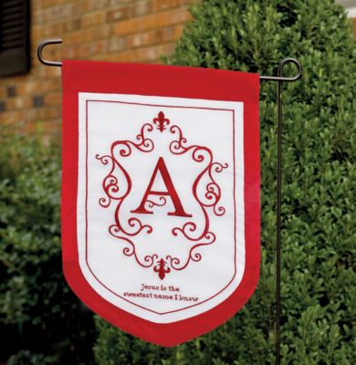 Monogrammed Garden Flags LifeWay Christian Flags Banners