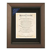The Resolution Framed Print