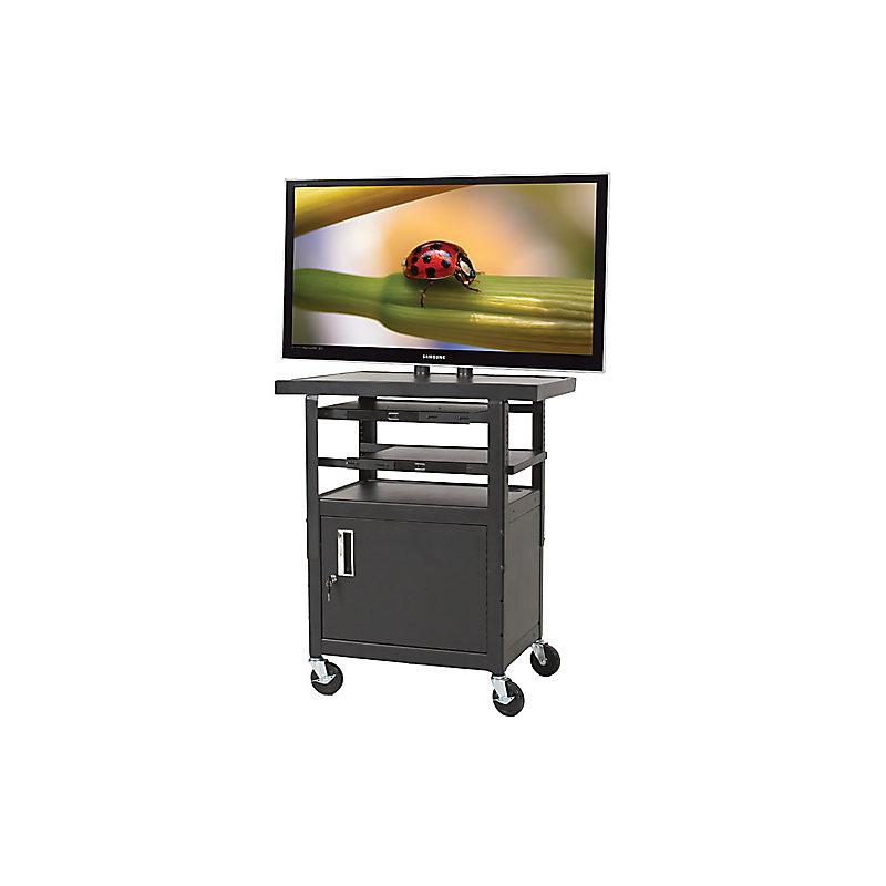 HEIGHT ADJUSTABLE FLAT PANEL TV CART - MODEL 27530