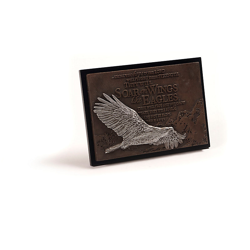 Soar on Wings Like Eagles Plaque With Stand