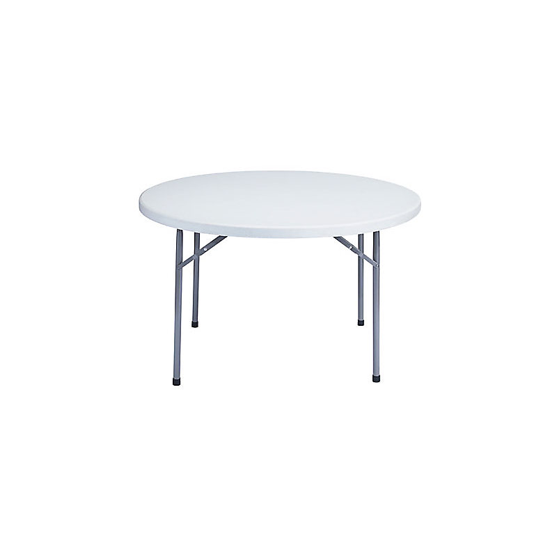 LIGHTWEIGHT ROUND BLOW MOLDED FOLDING TABLES - MODEL BT48R