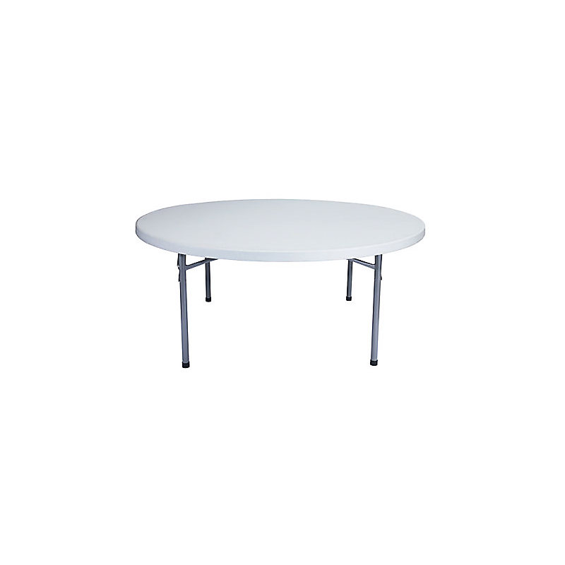 LIGHTWEIGHT ROUND BLOW MOLDED FOLDING TABLES - MODEL BT71R