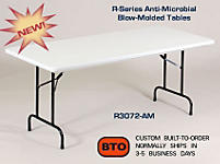 36 INCH COUNTER HEIGHT/STANDING HEIGHT FOLDING WORK TABLES (MODEL