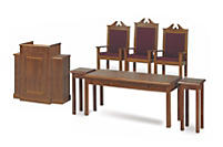 TRINITY CHANCEL FURNITURE - BROWN: FLOWER STANDS (MODEL TFS-105)