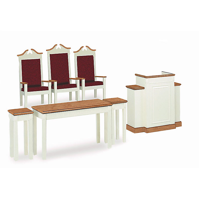 TRINITY CHANCEL FURNITURE - WHITE: PULPIT (MODEL TWP-605)