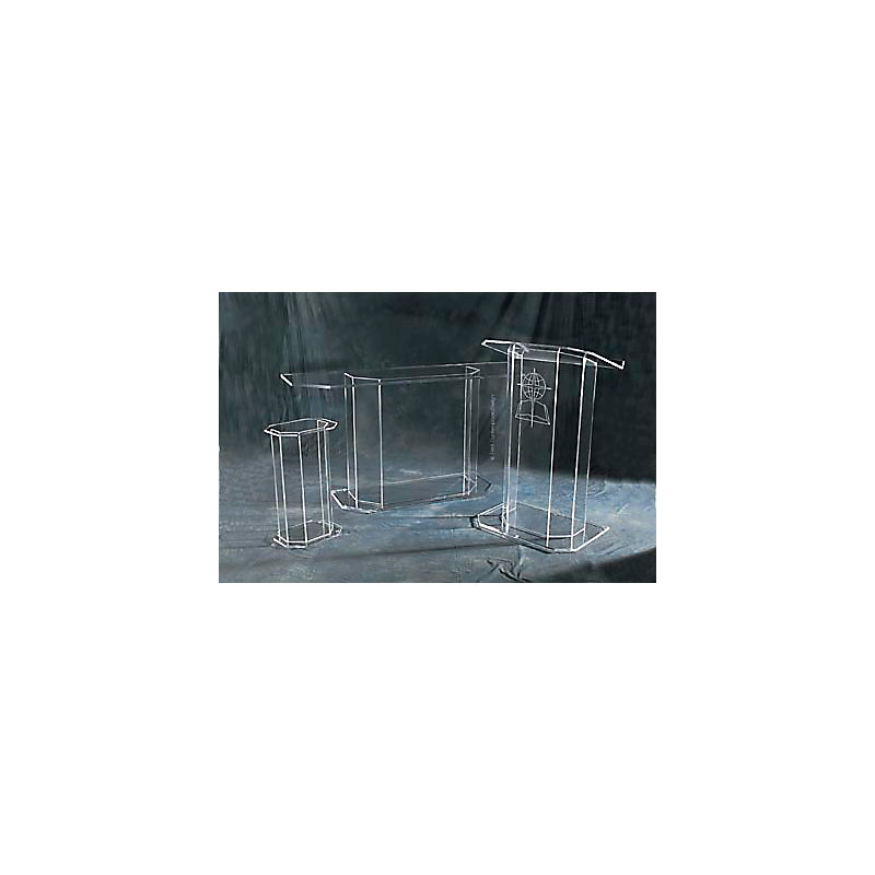 CONTEMPORARY PODIUM: CVC PODIUM CLEAR ACRYLIC