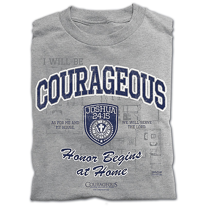 Courageous T-shirt: Adult Large
