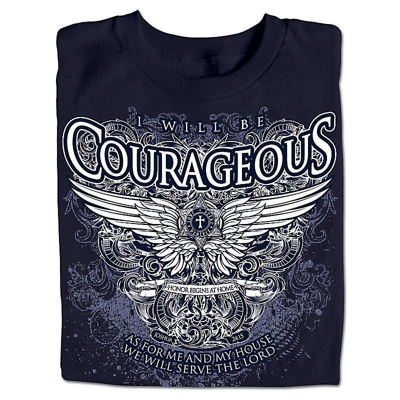 Courageous Winged Crest T-shirt: Adult Medium